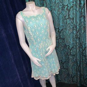 Pastel Blue/Green Summer Dress